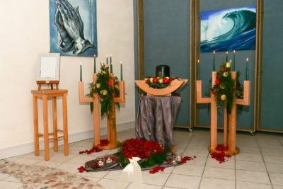 Verabschiedungsraum; Ralf König Bestattungen; Am Untertor 3 Plettenberg; Abschiednahme und Trauerfeier